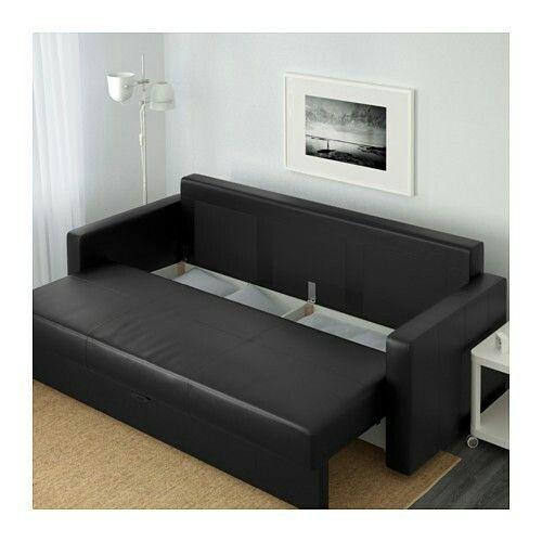 Ikea frihet sofa bed bomstad black