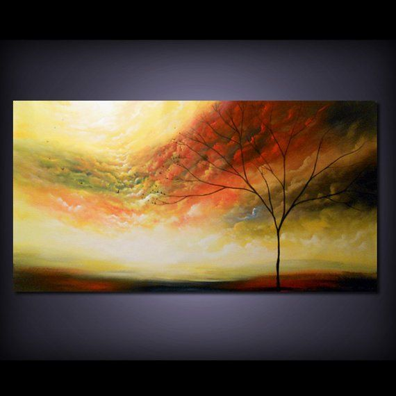 36 X 72 Abstract Painting Art Large Painting Tree Etsy Abstract Painting Abstract Art Painting Nature Paintings Acrylic