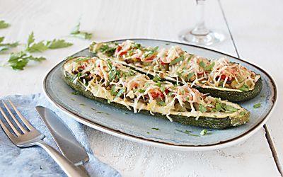 Végé-délices : courgettes farcies blindées de légumes