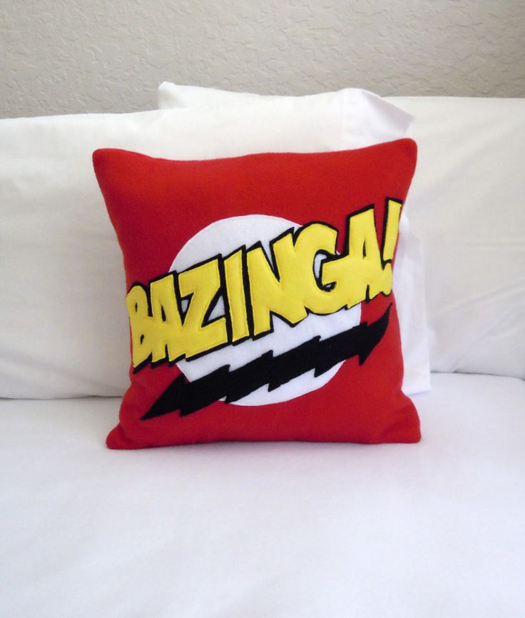 Bazinga Fleece Throw Pillow, Big Bang Theory by PatternsOfWhimsy on Etsy