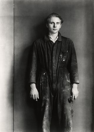 (157) Fitter (1929) by August Sander