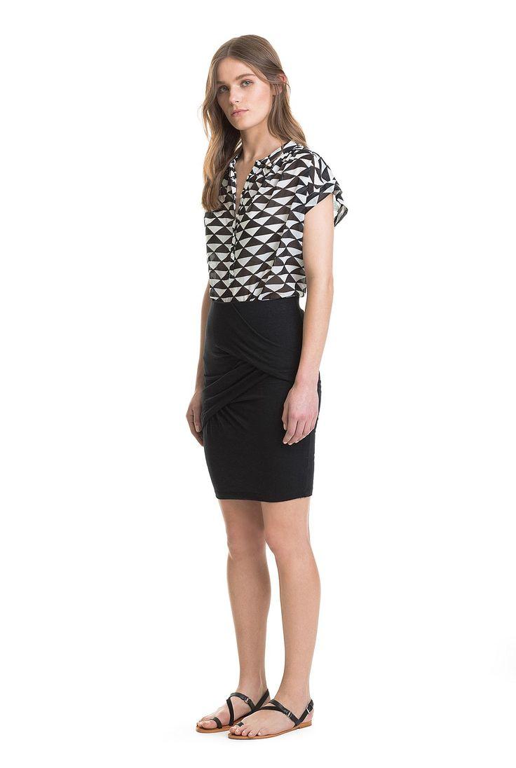 Body Con Tuck Skirt
