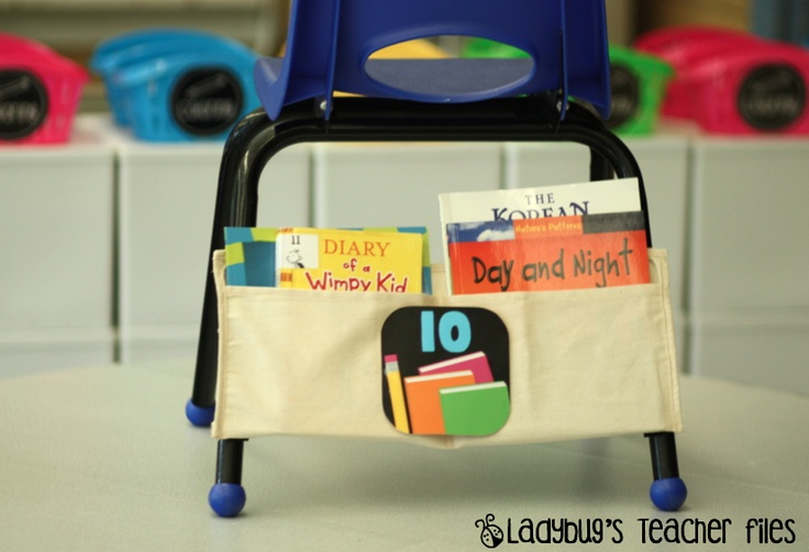 Cheap Chair PocketsNails Aprons, Water Bottle, Chairs Pockets Tak, Chairs Pocket Tak, Libraries Book, Ladybugs Teachers File, Classroom Ideas, Cheap Chairs, Classroom Organic