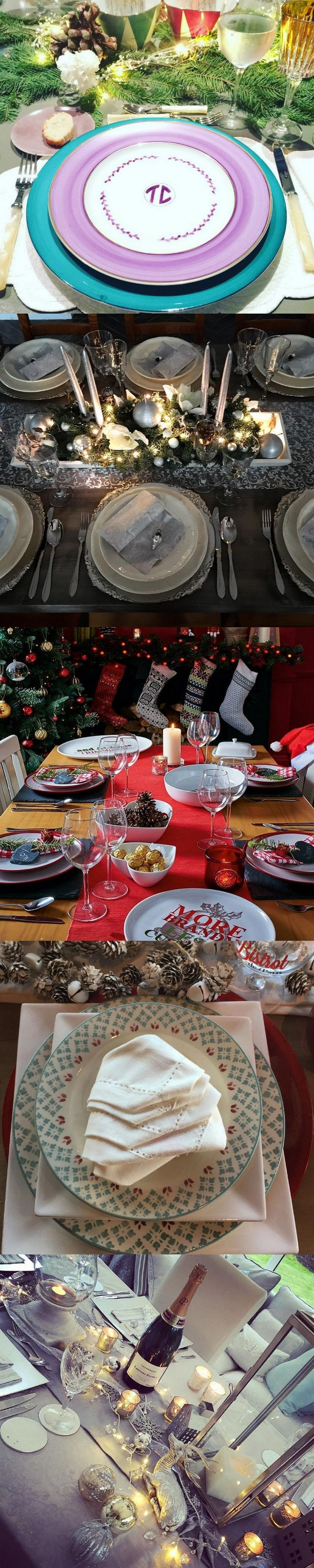 78 images about christmas table decorations on pinterest for Modern christmas table settings ideas