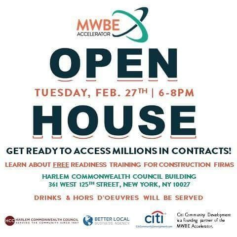 On Tues. Feb. 27 2018 we are hosting an Open House for our MWBE Accelerator and you're invited! Join us and learn about the MWBE Accelerator and our FREE Readiness Training starting soon. RSVP for the Open House today in our profile bio. See you there!  #mwbeaccelerator #minority #minorityowned #constructionlife #constructionworker #constructionwork #contracting #newyork #mwbe #womenowned #womenownedbusiness #blackowned #smallbusiness #developers #developerlife #contractor #nycbuildings…