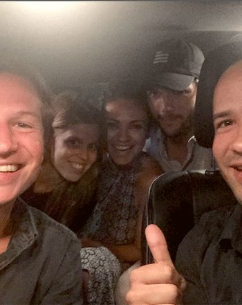 Mila Kunis, Ashton Kutcher Take Royal Uber Taxi With Princess Beatrice - Us Weekly