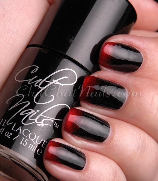 red-black gradient #nails #cultnails #jointhecult