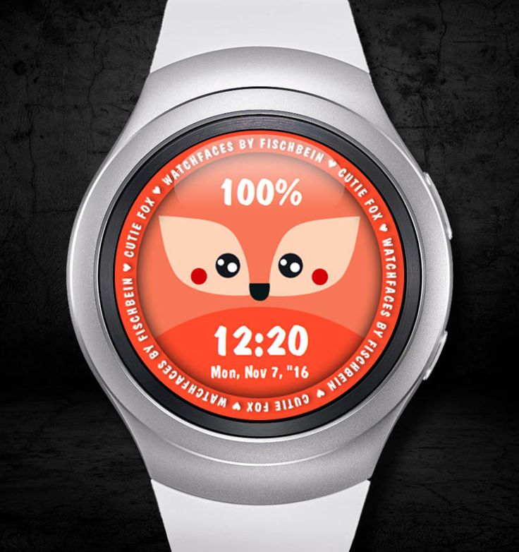 Cutie Fox 24h – Watchfaces by Fischbein