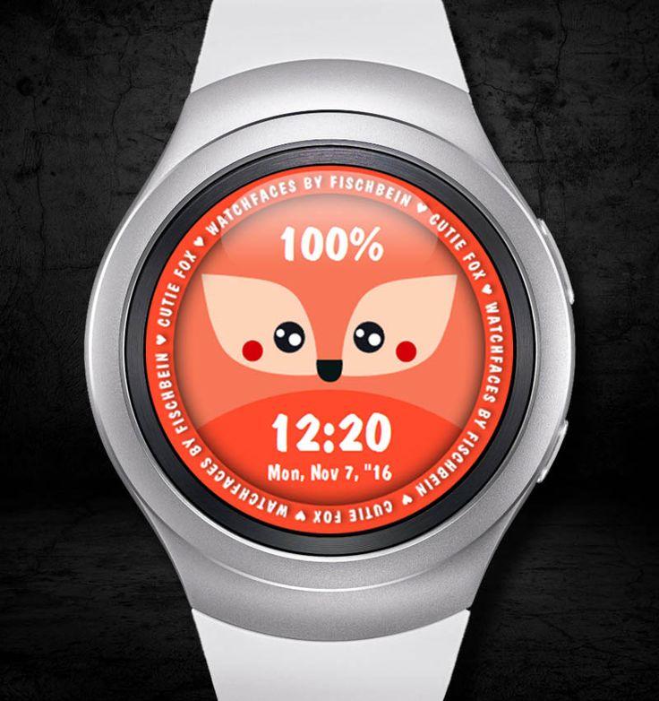 Cutie Fox 24h – Watchfaces by Fischbein