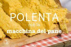 """Recentemente ho scoperto che si può fare la polenta con la macchina del pane (MdP). Una soluzione comodissima per preparare la polenta """"vera"""" senza stare 4"""