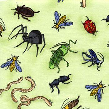 Crawley Critters by Benartex Fabrics - Critters Green