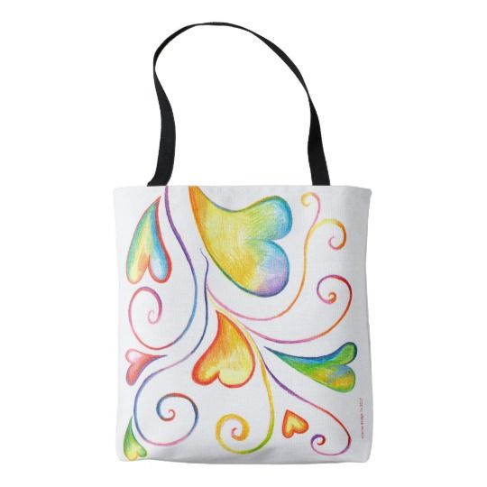 Colorful Valentine Spirals Bag