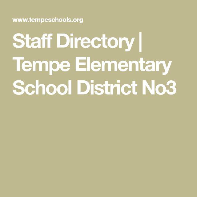 Staff Directory | Tempe Elementary School District No3
