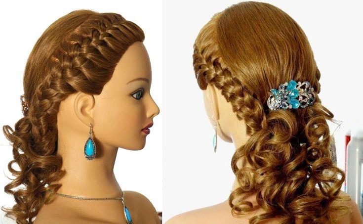 Прическа в школу с плетением на длинные волосы. Peinados para la escuela