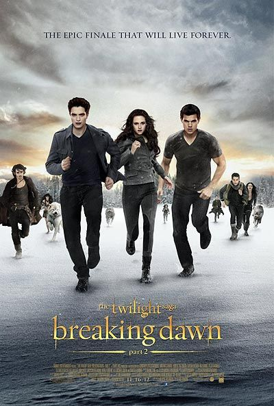 'Twilight: Breaking Dawn Part 2' unveils its final poster: Run!  I loved this movie! Definitely the best of the series! That twist ending definitely got me...