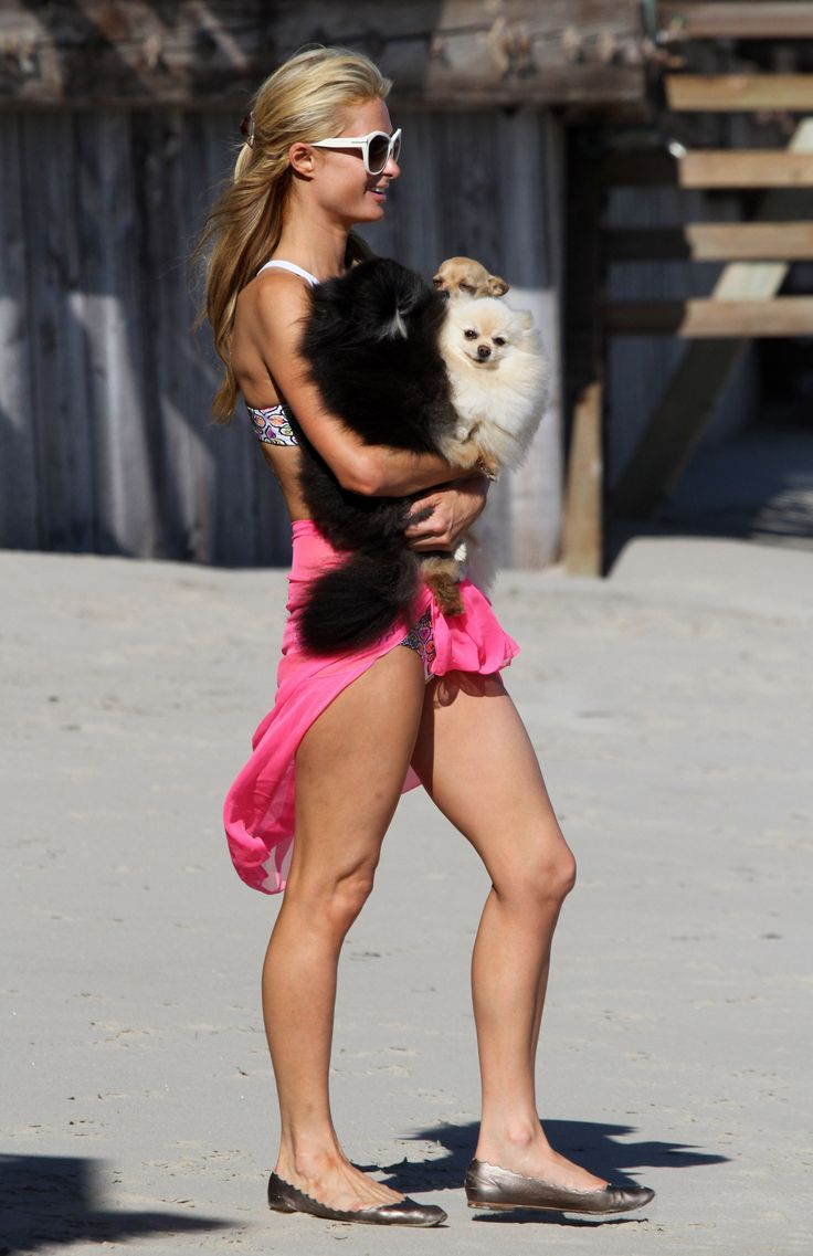 Paris Hilton | Bikini Candids on the Beach in Malibu  07/15/14