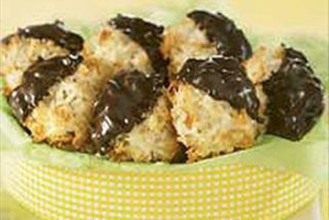 Treat your taste buds to our Chocolate-Dipped Coconut Macaroons recipe today . These Chocolate-Dipped Coconut Macaroons are sure to make a great addition to any menu.