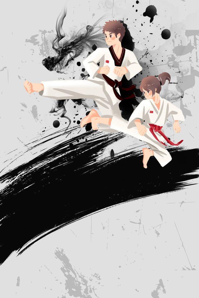 Taekwondo Admissions Poster Background Taekwondo Girl Martial Arts Banner Admissions Poster