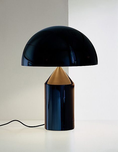 In a black lacquer the lamp takes on a futuristic quality.
