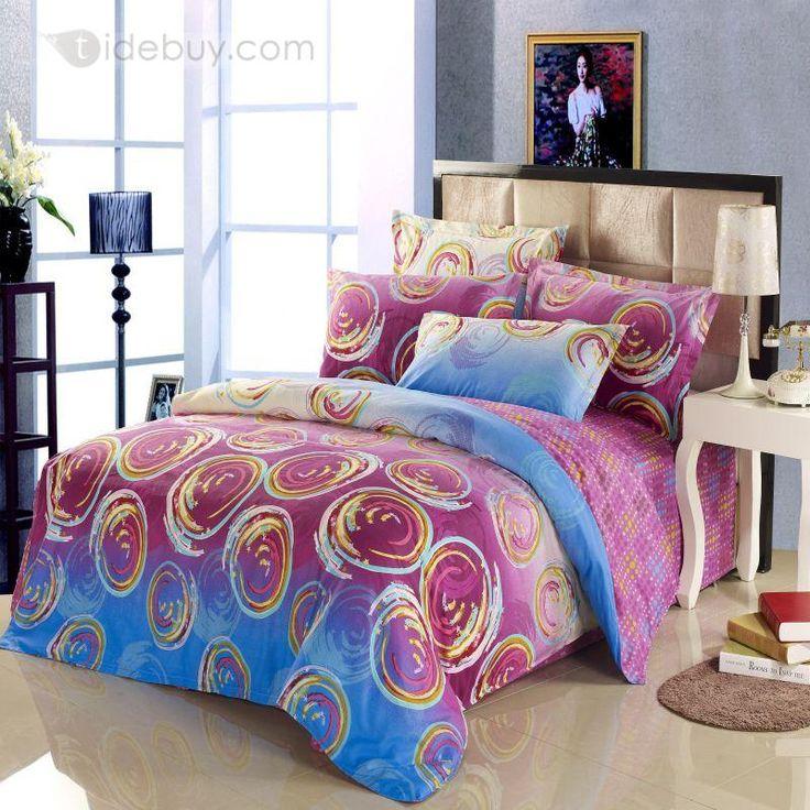 綿100%ファッションドットスタイルプリティ4ピース寝具セット