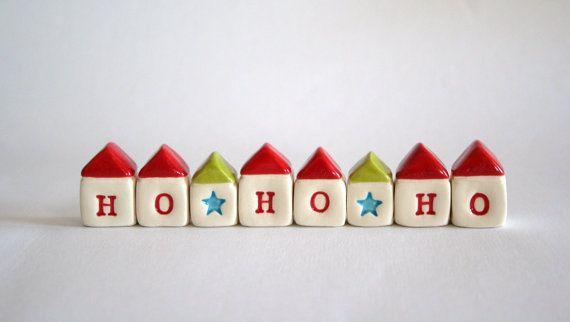 Made to Order HO HO HO Little House Village by thelittlereddoor.etsy.com 35% off shopwide!
