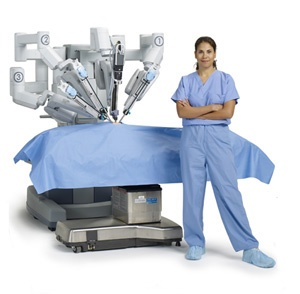 Intuitive Surgical designs and manufactures a robotic surgical system called da Vinci. http://www.intuitivesurgical.com/?et_mid=596671=233360408