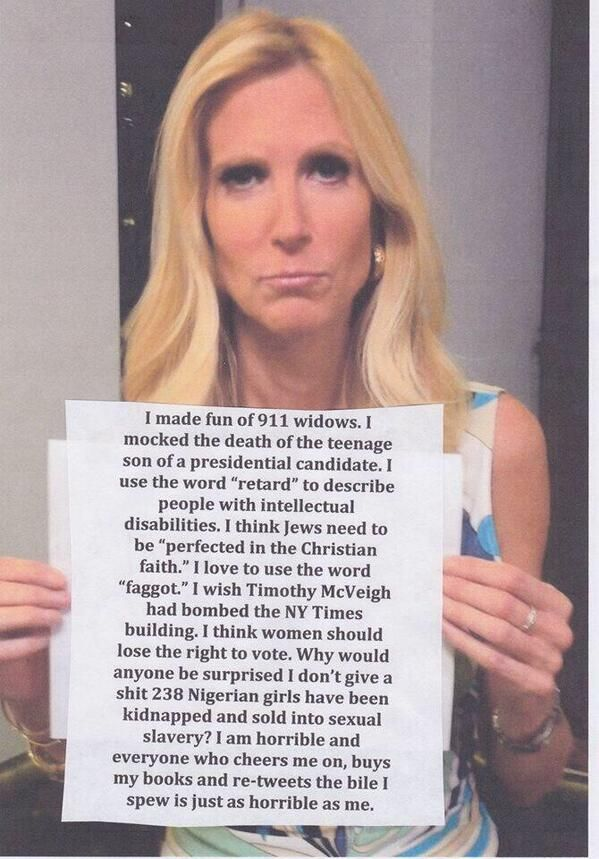 Ann Coulter what a bitch