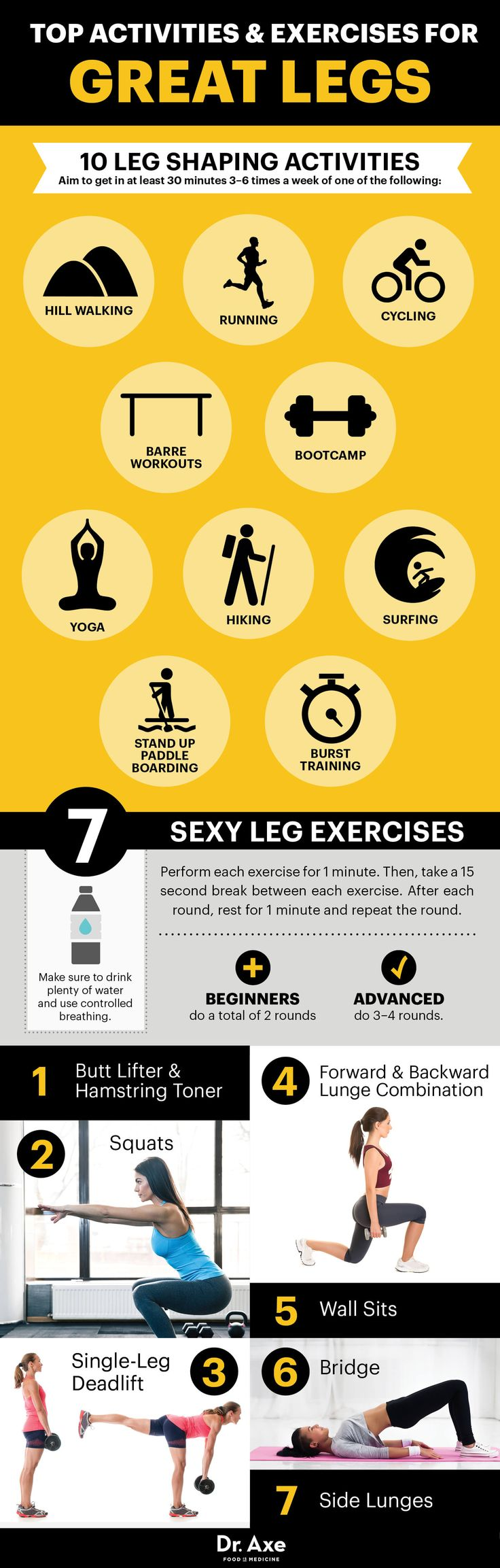Leg workout - Dr. Axe http://www.draxe.com #health #Holistic #natural