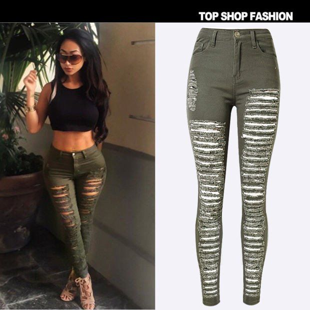 Lastest Khaki Green Pants For Women  Be Stylish