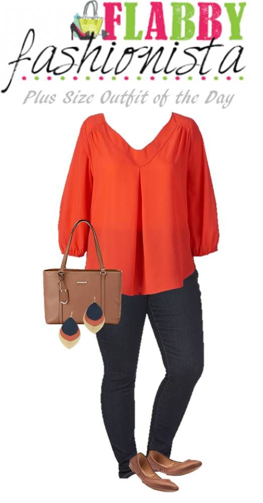 I love his coral blouse! It goes great with these incredible Noonday earrings. Add some great skinny jeans, and basic brown flats and tote to complete this look. Here are the apparel and accessory items that I used to create this chic look and you can click here to see all of the Plus Size Outfits …