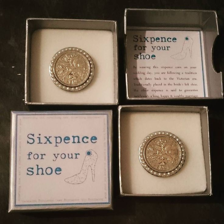 Two Shoe Clips Both With A Polished 1953 Sixpence Surrounded By Pearls
