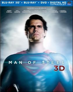 Man of Steel Blu-ray 3D 883929246922 Front