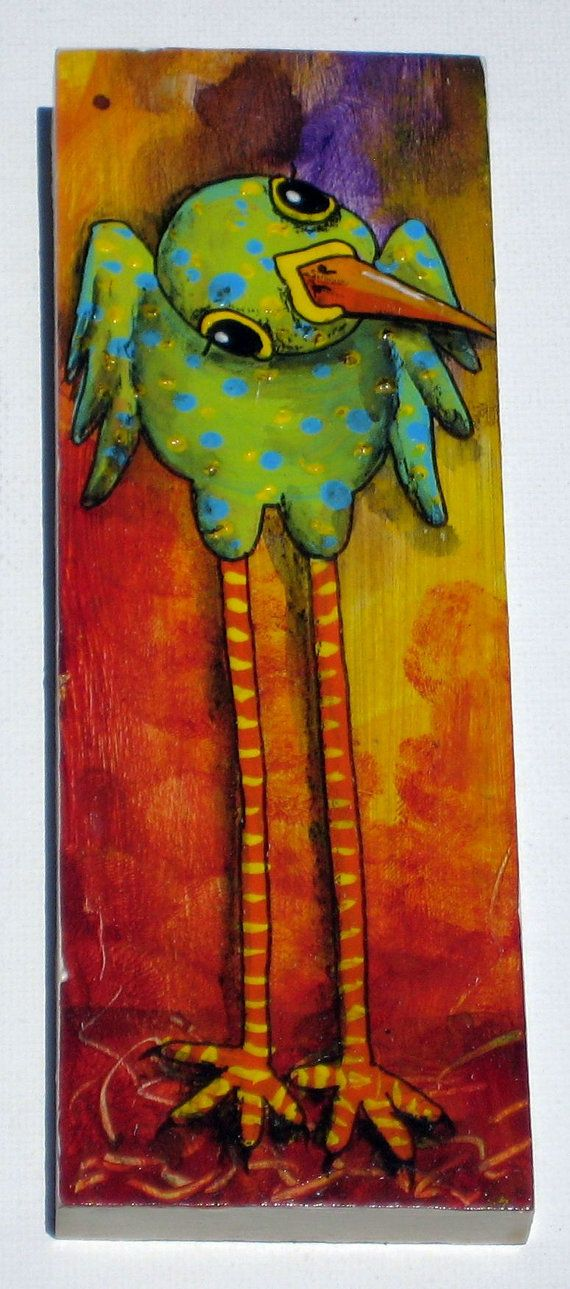 Whimsical Bird Painting: