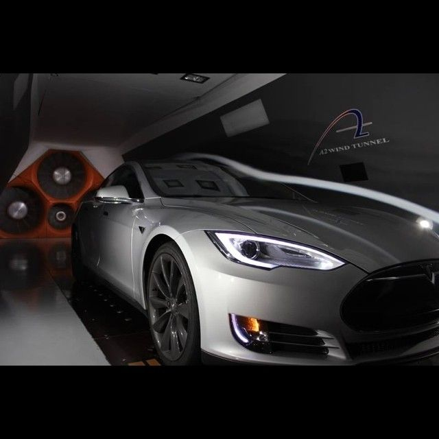 Race car driver @LeilaniMunter took her Model S to the wind tunnel and found that it has a lower drag coefficient than her race car! #Tesla #Cars #driver #street #speed #L4L