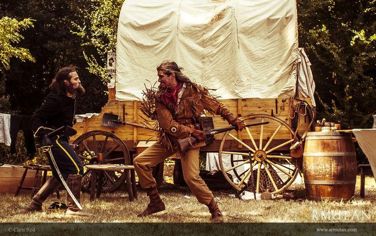 ©#armutan ©#chrisrod #western #trappeur #yankee #chariot #duel #combat #sabre #fusil