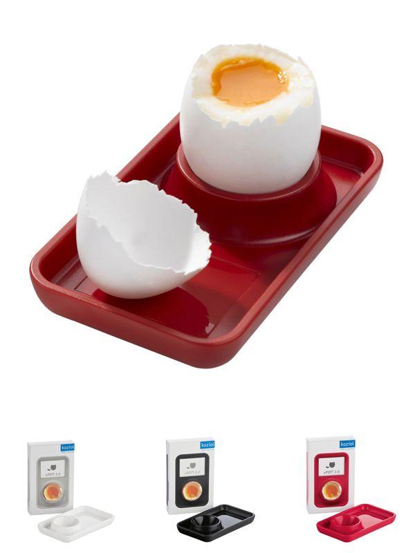 """""""Pott 2.0"""" es un porta huevo original y llamativo para el desayuno, y asegura un disfrute seguro y perfecto. Disponible en colores llamativos."""