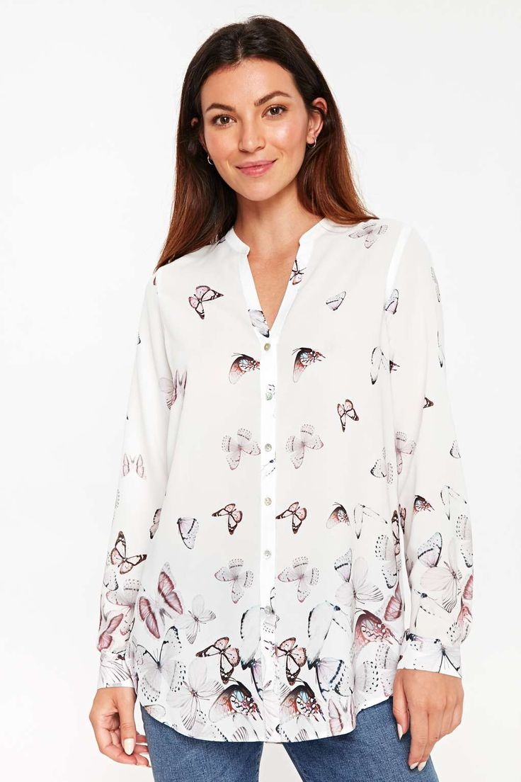 Wallis Scattered Butterfly Shirt Top