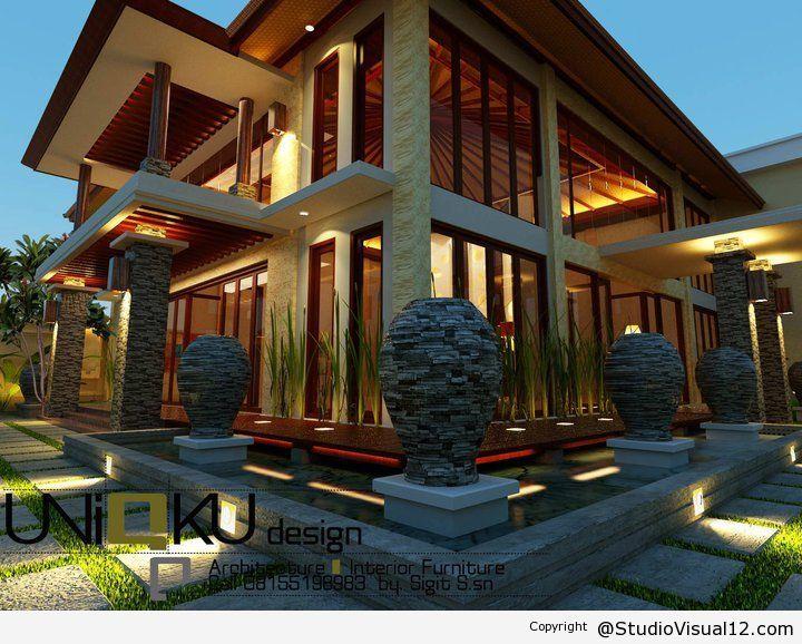 3D Desain Interios Rumah Modern Minimalis Untuk Iklim Tropis