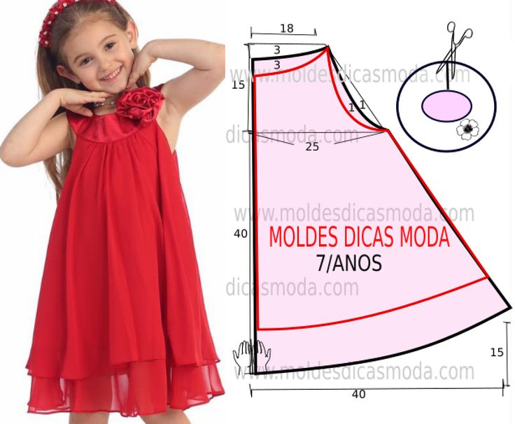 CHILDREN'S RED DRESS SIMPLE
