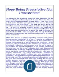 Hope Being Prescriptive Not Unrestricted