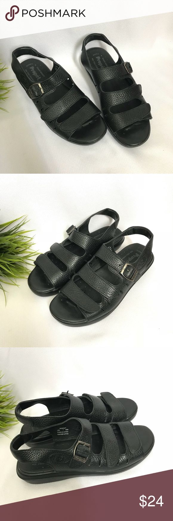 Propet Leather comfort Sandals Propet leather sandals  Adjustable strap for perfect fit  Comfort sandals   Size - 7  Very good condition, light wear Propet Shoes Sandals