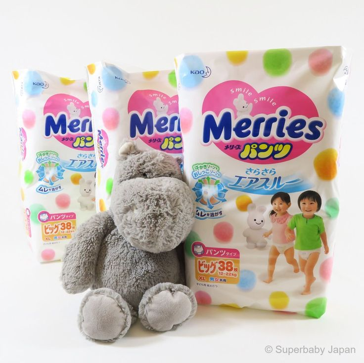 Superbaby Japan - Merries nappy pants - XLarge - 114 pieces (3 pack carton)