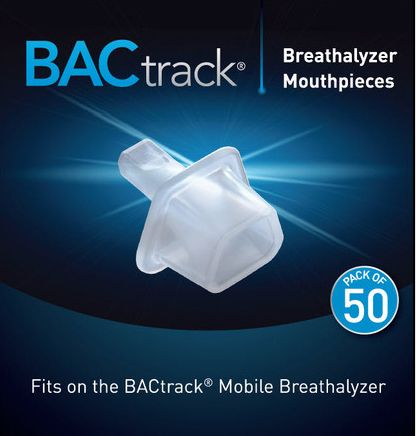 BACtrack Mobile Breathalyzer Mouthpieces 10, 50 Packs