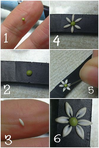 tutorial polymer clay embroidery