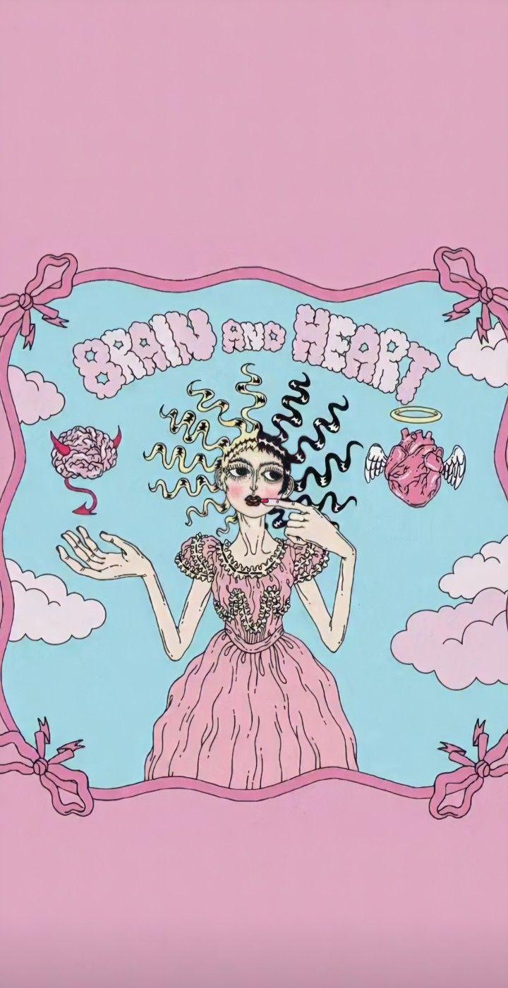 Melanie Martinez Brain And Heart Melanie Martinez Anime Melanie Martinez Poster Prints