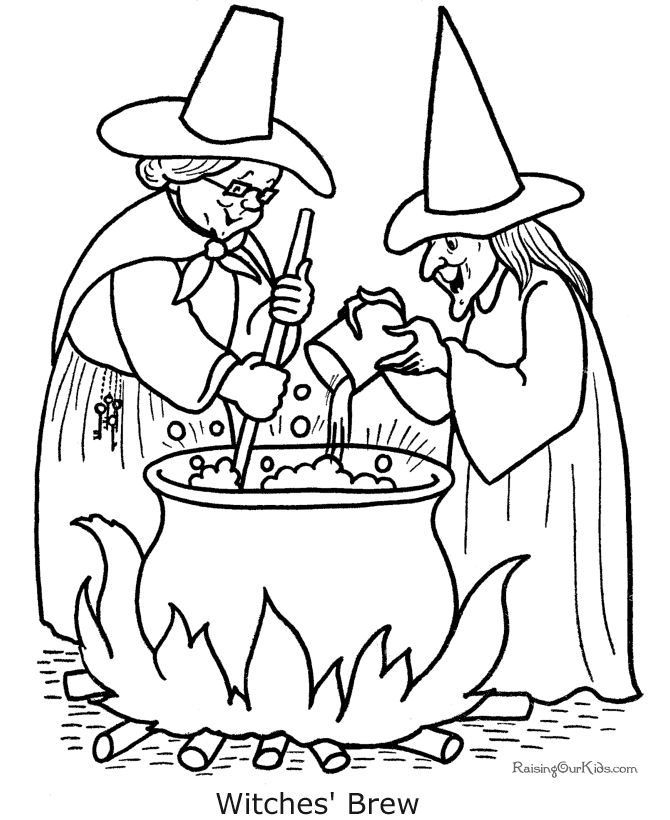 halloween coloring pages | These free, printable witch Halloween coloring pages provide hours of ...