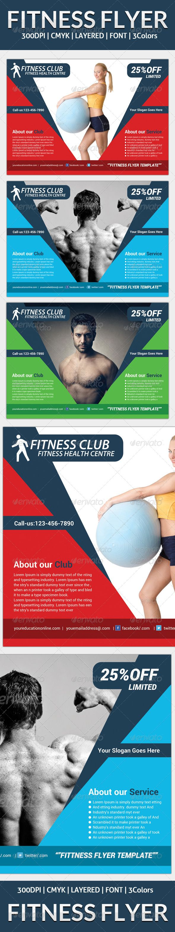 best images about gym advertisement business fitness flyer template graphicriver
