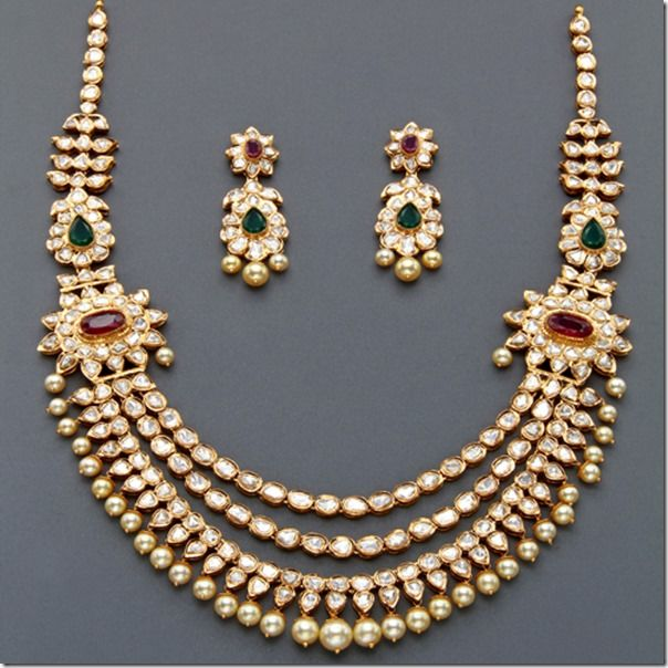 Indian Jewellery And Clothing Polki Necklace Sets From: 380 Best Images About Jewelry On Pinterest