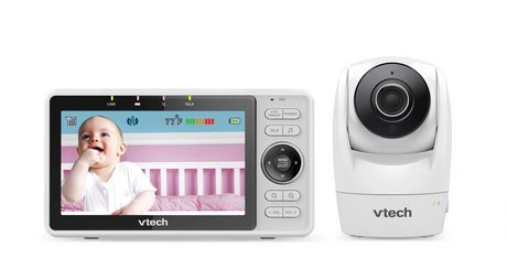 Vtech Rm5762 Wi-Fi Remote Access Video Babyphone Mit 5 1080P Hd Pan & Tilt Kamera, Weiß Weiß   – Products