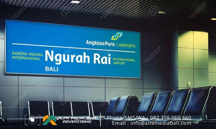Neon box Acrylic Bandara Ngurah Rai | Alfa Media Bali
